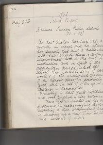 School Log Book 26.5.1903