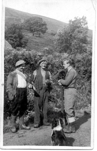 Sandy Butters (Center), with Gamekeeper Alec McDougall (L) and Jim Anderson
