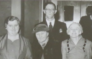 John McLean and Mrs Hodgson (centre)